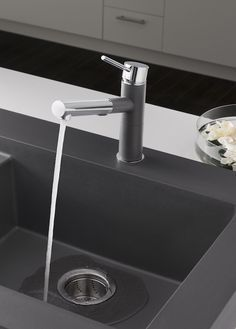 Color Story - Cinder on Pinterest | Kitchen Sinks, Faucets and Stones