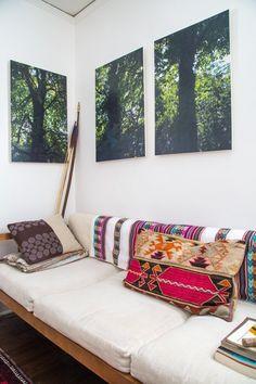 Photo de forêt dans le salon