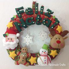Guirlanda de Natal em feltro Felt Christmas Garland