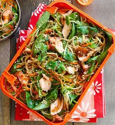 Thomas Dux - Soba noodle salad with salmon and miso dressing