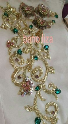 Renovate your Wardrobe, We provide customization in Designer Blouses & women ethnic wear. that reflect Amazing Handwork & Unique Zardosi Art at Your Budget & time, Worldwide Delivery. Kurti Embroidery Design, Bead Embroidery Patterns, Embroidery On Clothes, Embroidery Fashion, Embroidery Jewelry, Hand Embroidery Designs, Ribbon Embroidery, Fabric Beads, Sequin Fabric