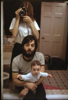 McCartney with Linda and his baby