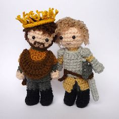 Crocheted Renly & Loras dolls. THESE ARE SO CUTE!