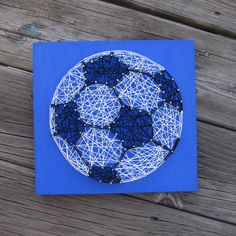 Made to Order String Art Soccer Ball Sign by BlossomingBurlap