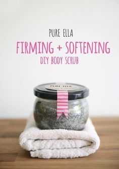 Firming and Softening Body Scrub Recipe - Made using two simple ingredients: coffee grounds and coconut oil.