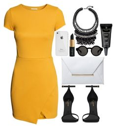"""""""Yellow baby"""" by lindseu on Polyvore featuring polyvore, fashion, style, H&M, Yves Saint Laurent, Monki and clothing"""