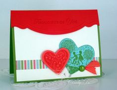 I like the use of the new edgelits die and embossing folder on this card.