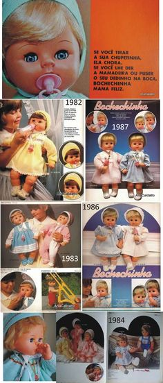 imagem Catálogo da Estrela Boneca Bochechinha de 1978 / 79:     boneca Bochechinha de 1980:           Brinquedos anos 80   folheto...