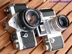 Asahiflex and Pentax MX SLR film cameras