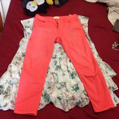 Cleaning my closet Very orange Zara Jeans Skinny