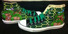 Teenage Mutant Ninja Turtles Converse Chuck Taylor All-Stars. $90.00, via Etsy.