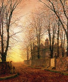 *** In the Golden Olden Time, c.1870 by John Atkinson Grimshaw (1836-93)