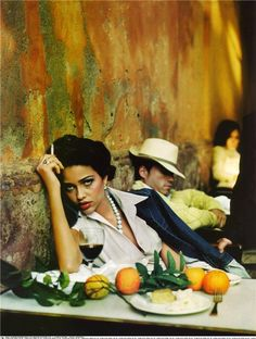 My all time favorite color image. It's either from Vogue or Elle Spain. LOVE, LOVE this image. I want to be this woman!!