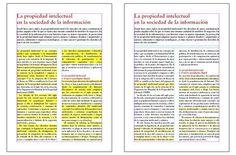 Página sin separación por sílabas frente a una página con separación por sílabas - Mapa de color en Indesign