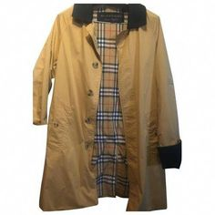 Pre-Owned Burberry Camel Cotton Jacket Raincoats For Women, Jackets For Women, Burberry Jacket, Hooded Raincoat, Cotton Jacket, World Of Fashion, Camel, Duster Coat, Size 10