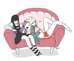 パンティ&ストッキング ファンアート Panty & Stocking with Garterbelt  fanart Psg, Panty And Stocking Anime, Character Concept, Character Design, Manga, Magical Girl, Anime Style, Pose Reference, Cartoon Characters
