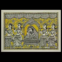 Madhubani painting, 'The Marriage Procession'