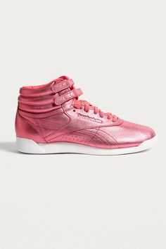 5025b0be46788 Reebok Fitness Metallic Pink High Top Trainers