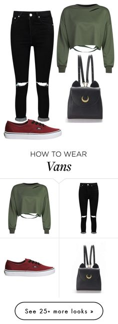 """""""Sans titre #472"""" by iamophelie on Polyvore featuring Boohoo, Vans and WithChic"""