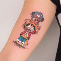 Anime Tattoo Anime character One piece by Robson. Anime Tattoos, Fake Tattoos, Mini Tattoos, Body Art Tattoos, Sleeve Tattoos, Tatoos, One Piece Tattoos, Pieces Tattoo, One Piece Anime