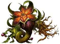Rosehip plant monster. Unknown Artist, minor photoshop work by Brumby