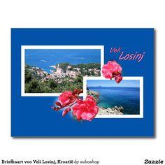 Briefkaart voor Veli Losinj, Kroatië, Photo, tourism, Europe, Croatia, Croatian, Adriatic sea, Adriatic , Mediterranean, Istrie, Kvarner, Losinj, island Losinj, island, otok Losinj, eiland Losinj, vacation, travelling, journey, holiday, holidays, holiday, voyage, reizen, vakantie, Kroatie, postcard, postcards, design,  Originele postkaarten voor het eiland Losinj in Kroatië met een heel nieuw design. Ook verkrijgbaar ZONDER TEKST zodat je ze kan personaliseren
