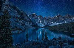 Lago Moraine, Parque Nacional Banff, Canadá