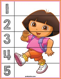 FREE! Dora the Explorer Number Puzzle