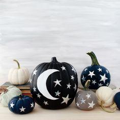 DIY Moon and Stars Pumpkins