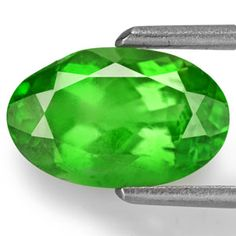 2.02-Carat Eye-Clean Neon Green Tsavorite Garnet (IGI)