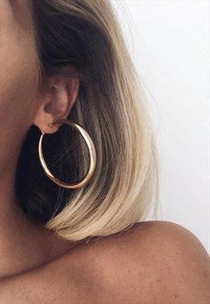 c90a16c41 THICK CRESCENT HOOP EARRINGS- GOLD #hoopearrings
