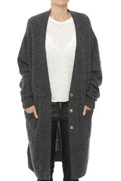 dark grey cardigan