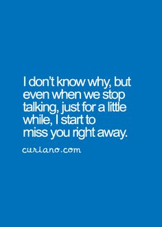 how to stop missing someone far away
