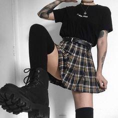 Which skirt 1, 2 or 3? 🖤🌹 . . #grunge #softgrunge #indie #itgirl #gothaesthetic #goth #grungeaesthetic #rock #punk #alternative #style… Egirl Fashion, Teen Fashion Outfits, Grunge Fashion, Cute Fashion, Girl Outfits, Grunge Outfits, Retro Outfits, Cute Casual Outfits, Mode Emo