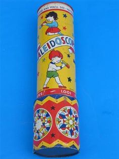 VINTAGE 1960's TINPLATE KALEIDOSCOPE BY ACME TOYS ENGLAND 1001 PATTERNS