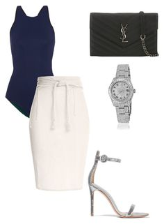 💁🏽 by aryannarose-1 on Polyvore featuring polyvore fashion style Caravana Ward Whillas Gianvito Rossi Yves Saint Laurent Rolex clothing