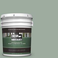 BEHR Premium Plus Ultra 5-gal. #450F-4 Scotland Road Semi-Gloss Enamel Exterior Paint