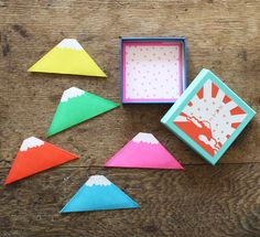 Triangle Mt. Fuji Washi Paper Notes | UGUiSU Online Store