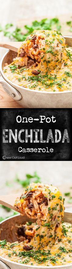 One Pot Enchilada Rice Casserole This easy weeknight casserole is big, bold, and irresistible! It takes 45 minutes and one pot to make this delicious dish. Pot Enchilada Rice Casserole This easy weeknight casserole is big, bold, and irresistible! Enchilada Rice, Enchilada Casserole, Rice Casserole, Casserole Recipes, Enchilada Recipes, Enchiladas, Mexican Dinner Recipes, Mexican Dishes, Mexican Desserts