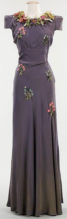 ~Evening dress Elsa Schiaparelli  (Italian, 1890–1973) Date: fall 1938~