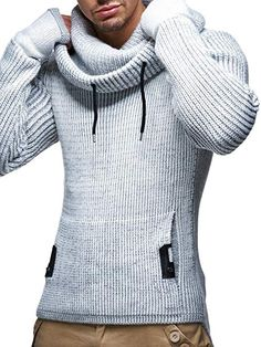 LEIF NELSON Herren Pullover Hoodie Strickpullover Longsleeve Sweater  Sweatshirt Zipper LN5060  Größe L 3122000afb792