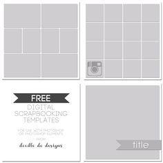 Free Digital Scrapbooking Templates | Doodle Do Designs #scrapbooking #digitalscrapbooking #free