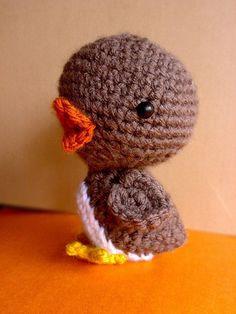 Penguin Toy Crochet Amigurumi Duck Bird Chick Pikoo by PlushWorld