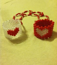 Hey, I found this really awesome Etsy listing at https://www.etsy.com/listing/158260362/cute-love-heart-kandi-red-and-clear-rave
