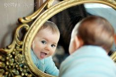 Love the baby in mirror photos!