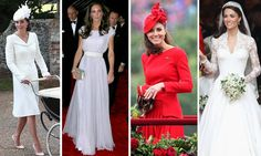 """Kate Middleton - ALEXANDER MCQUEEN  Modern Elegance Kate's fairy tale bridal look was the creation of Sarah Burton, successor to the late founder of the label. On the catwalk, Sarah's mentor's signature silhouette of corseted waists and strong shoulders was daring and extravagant. In Sarah's hands the style allows Kate to stand out from the crowd, while still looking Duchess demure.   """"I loved making the [wedding] dress. We put our hearts into it,"""" she told the Telegraph. """"I respect the…"""