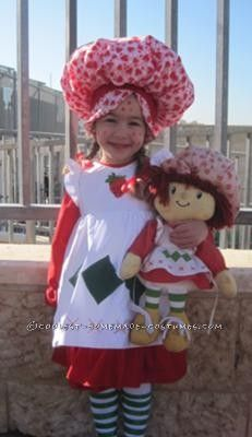 cute strawberry shortcake costume for a girl halloween costume contestcool