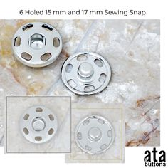 15mm and 17mm SEWING SNAP   In addition to our 4 holed sewing snap buttons that we are currently producing, we started the production of the 6 holed sewing snaps imported and sold in the textile accessory market as 15mm and 17mm  #snapbuttons #sewingsnaps #eyelet #jeans #jeansbutton #jeansbuttons #snap #prongsnap #prongsnapfastener #prongsnaps #rivet #textileaccessories