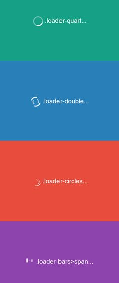 A collection of 4 animated CSS3 only loaders. - posted under Coding tagged with: Animation, Code, CSS, CSS3, Loader, Loading, Resource, SCSS, Snippets, Web Design, Web Development by Fribly Editorial