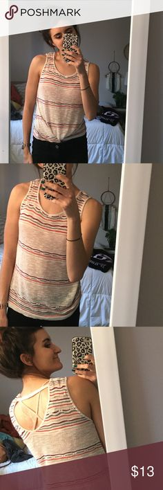 Multicolor Striped Knit Tank top Fabulous layering piece, fun colors. Good condition!   Check out my other listings, bundle and save 10%! Top rated seller with fast shipping 😁  Feel free to ask any questions or make me an offer! 💅🏽 Charming Charlie Tops Tank Tops